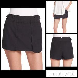 Free People Black Utility Shorts / Skort Size 12